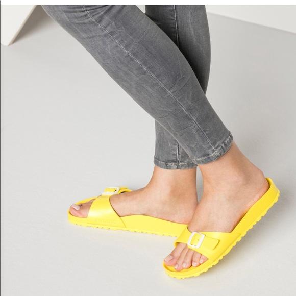 8414b6ecef1 Birkenstock Shoes - Birkenstock Madrid Eva Neon Yellow Sandals 11